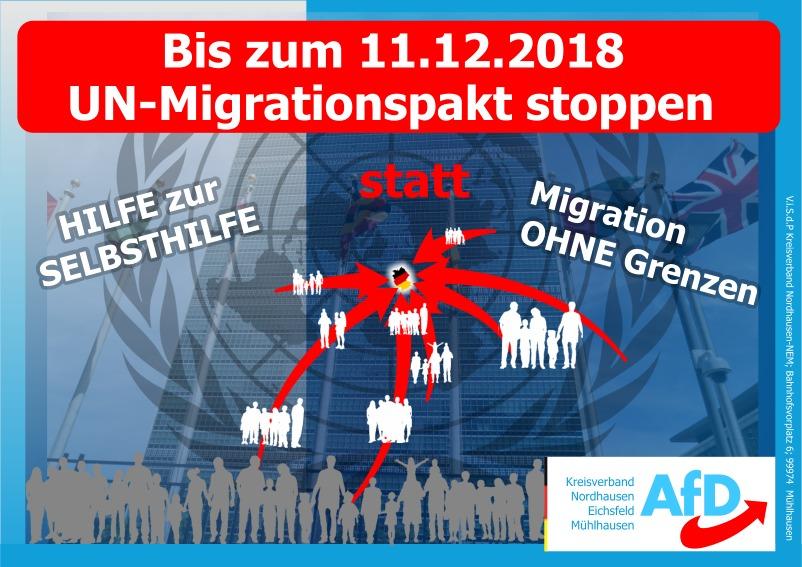 Migrationspakt STOPPEN – RICHTUNGSWECHSEL IN DEUTSCHLAND – JETZT!