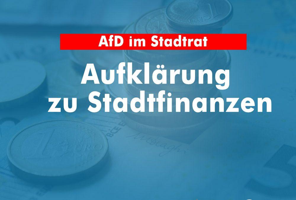 AfD fordert Aufklärung zu Stadtfinanzen