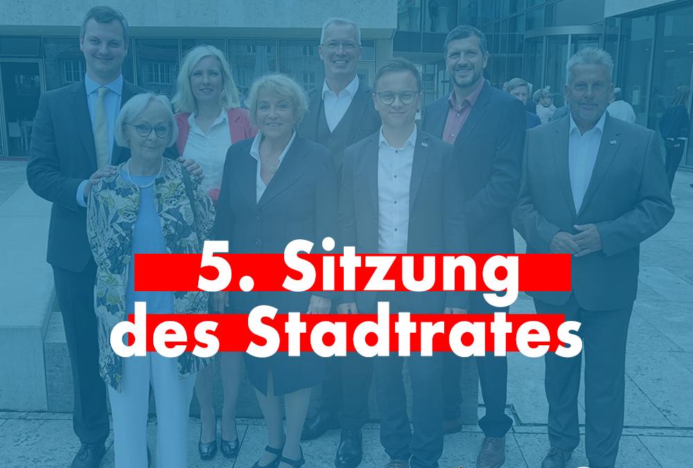 """""""Stadtratssplitter"""" – 5. Sitzung (Teil 1)"""