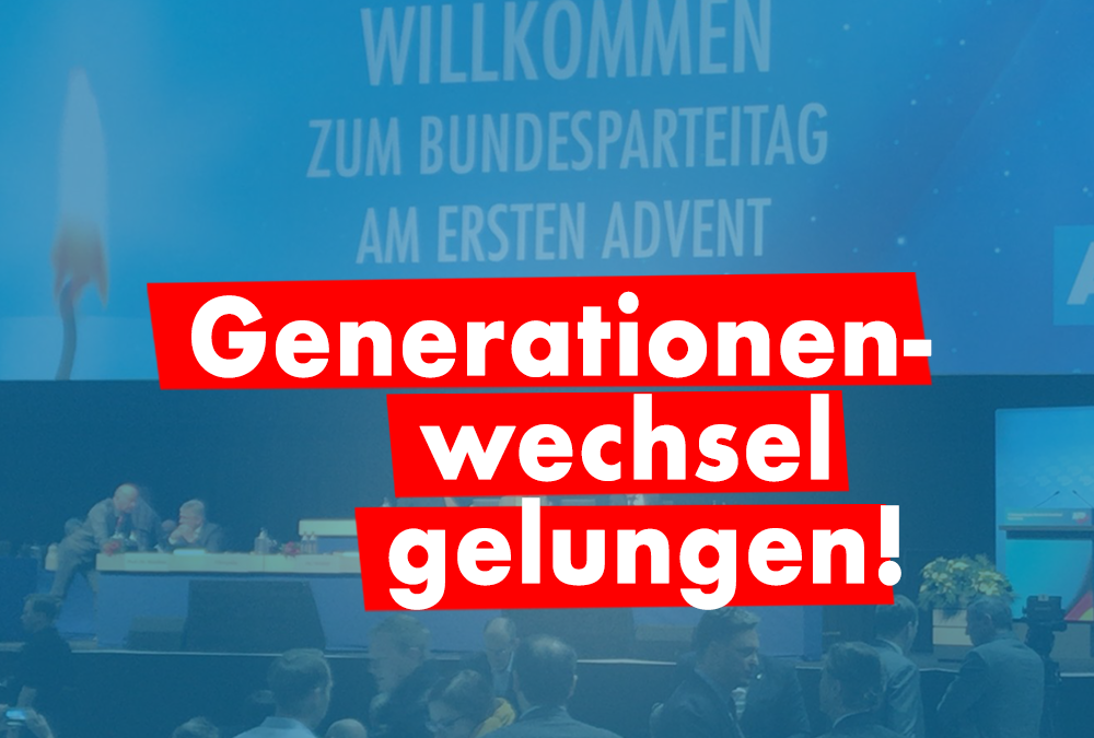 """AfD-Parteitag: """"Generationenwechsel gelungen"""""""