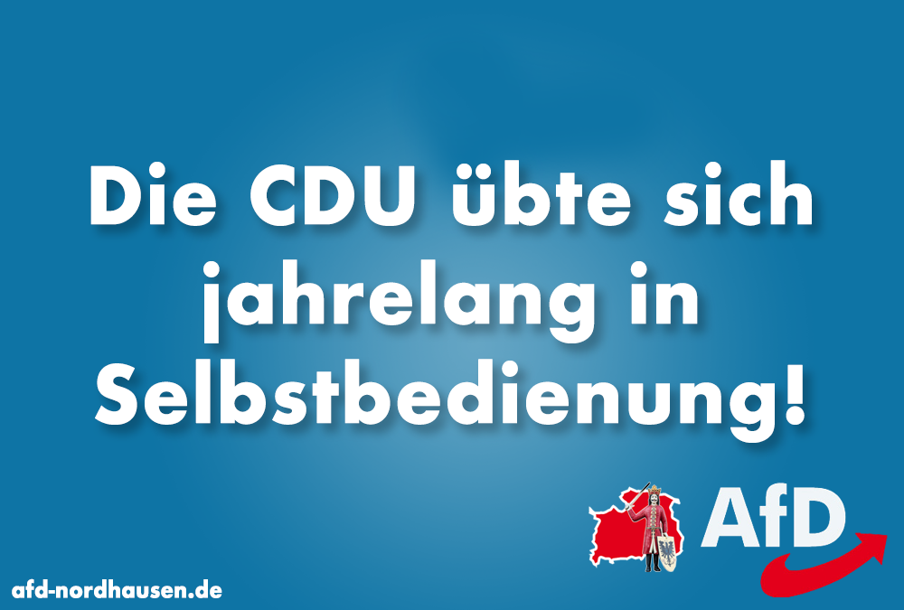 CDU-Fraktion im Thüringer Landtag wirft den Linken Selbstbedienung vor