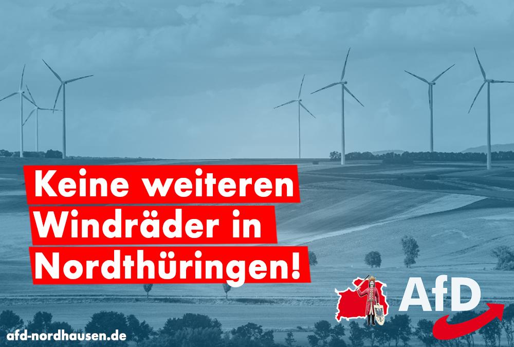 Keine neuen Windräder in Nordthüringen!
