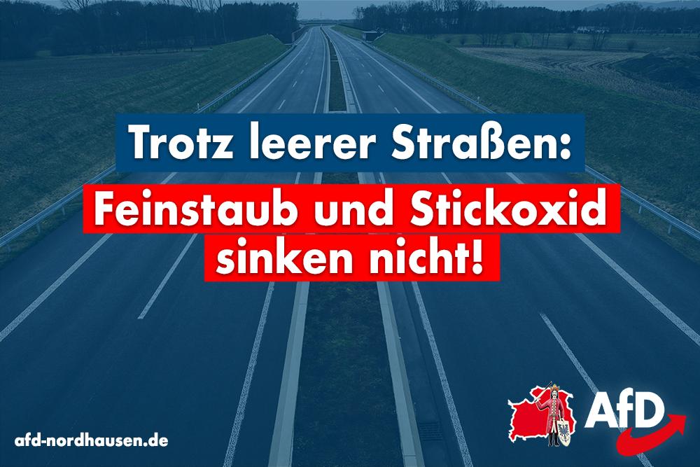 Trotz leerer Straßen: Feinstaub und Stickoxid sinken nicht!