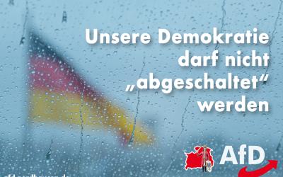 """Demokratie darf nicht """"abgeschaltet"""" werden"""