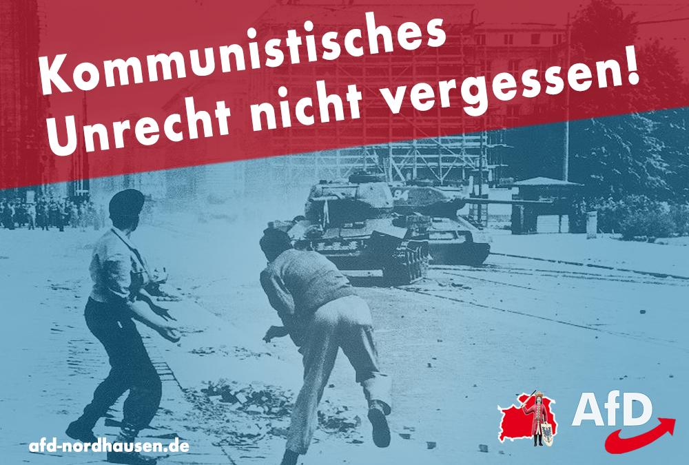 Kommunistisches Unrecht nicht vergessen