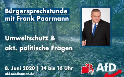 Bürgersprechstunde mit Frank Paarmann