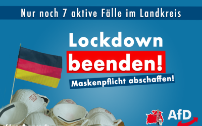 Nordhausen: Lockdown beenden, Maskenpflicht abschaffen!