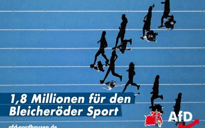 Sportstätte: 1,8 Millionen Euro für Bleicherode!
