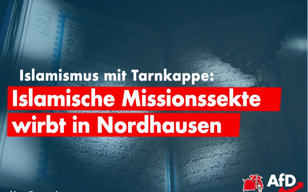 """Islamische Missionssekte """"Ahmadiyya"""" wirbt in Nordhausen"""