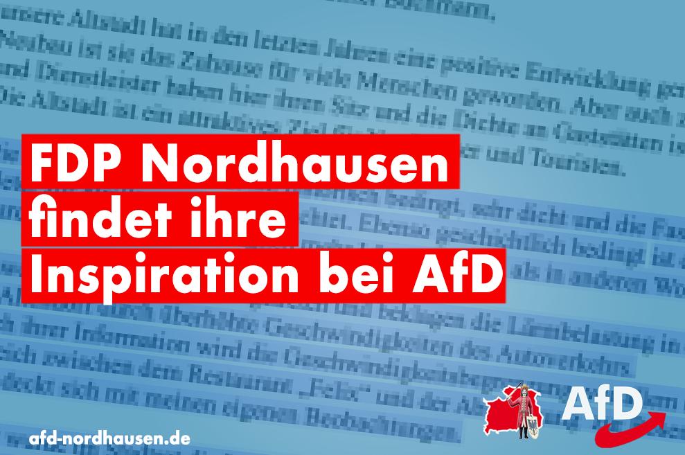 FDP Nordhausen findet ihre Inspiration bei AfD
