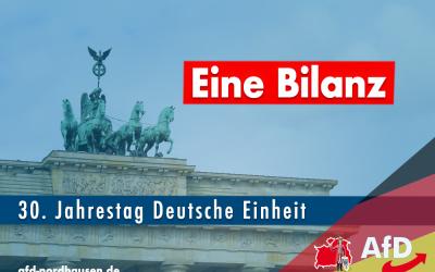 30 Jahre Deutsche Wiedervereinigung, eine Bilanz
