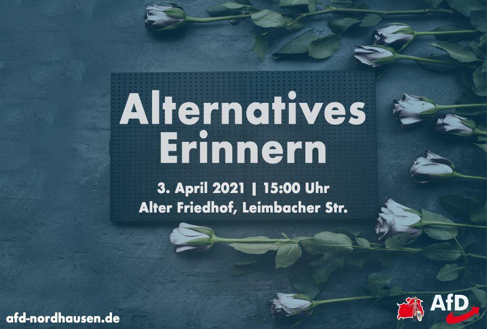 Alternatives Erinnern am 3. April