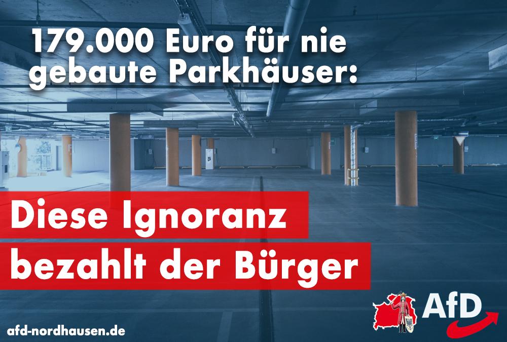 Planungskosten Parkhäuser: SWG-Ignoranz bezahlt der Bürger