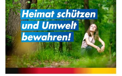Heimat schützen und Umwelt bewahren!