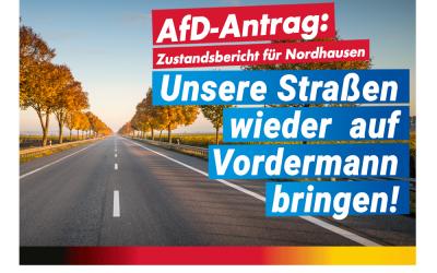 Zustandsbericht für Nordhäuser Straßen