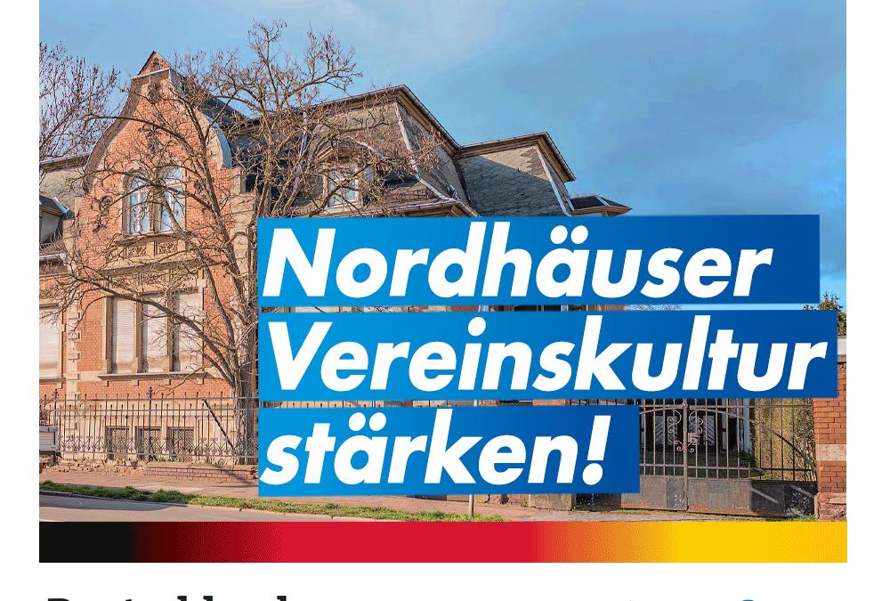 Nordhäuser Vereine stärken und nicht obdachlos machen